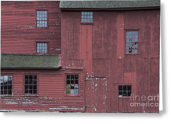 New England Village Greeting Cards - Red Barn Greeting Card by John Greim