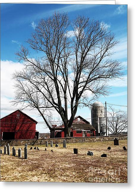 Red Barn Prints Greeting Cards - Red Barn Greeting Card by John Rizzuto