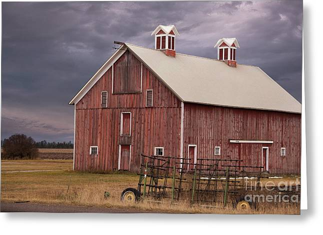 Rural Scenes Photographs Greeting Cards - Red Barn  Greeting Card by Juli Scalzi