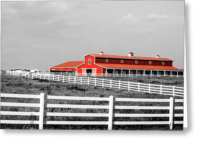 Old Barns Greeting Cards - Red Barn Greeting Card by Parker Cunningham