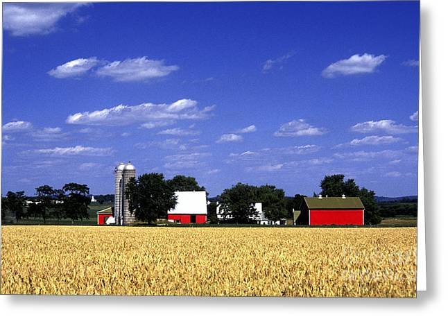 Pennsylvania Dutch Greeting Cards - Red Barn Greeting Card by Paul W Faust -  Impressions of Light