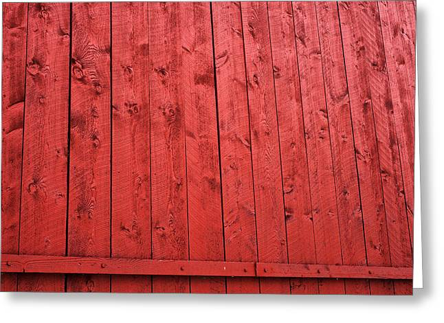 Red Barn Prints Greeting Cards - Red Barn Square Greeting Card by John Rizzuto