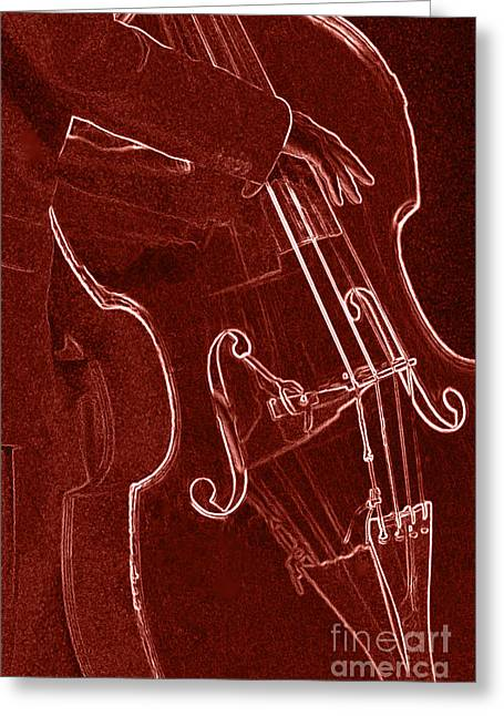 Negative Effect Greeting Cards - Red Bass Greeting Card by James L. Amos