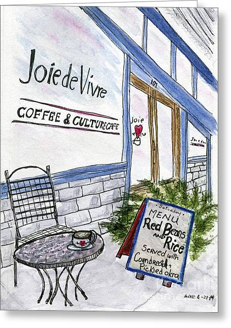 Cajun Cafe Greeting Cards - Red Beans Greeting Card by Andrea Rubinstein