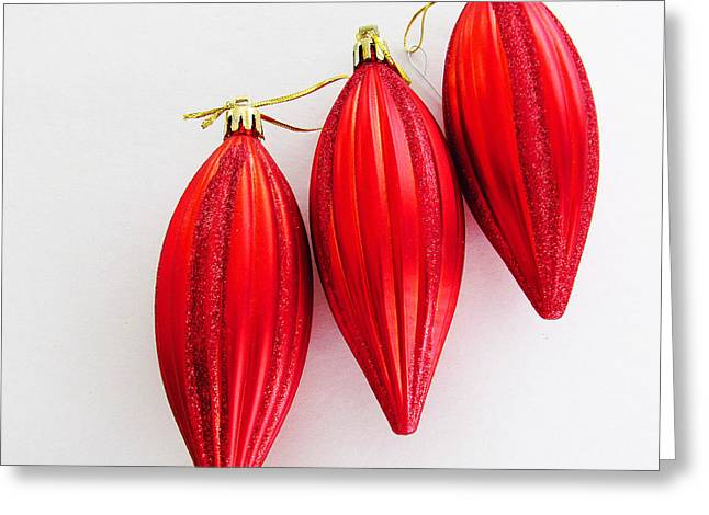 Star Of Bethlehem Greeting Cards - Red Bells of Christmas Greeting Card by Tina M Wenger