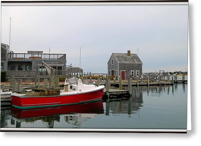 Shack Greeting Cards - Red Boat Greeting Card by Kathy Barney