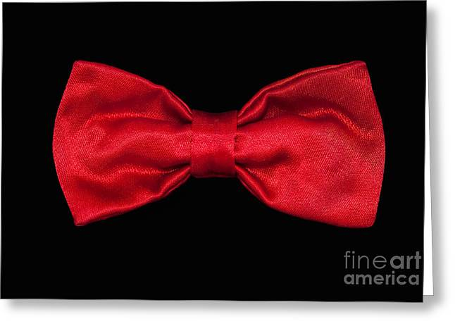 Ties Greeting Cards - Red Bow Tie Greeting Card by Dan Holm