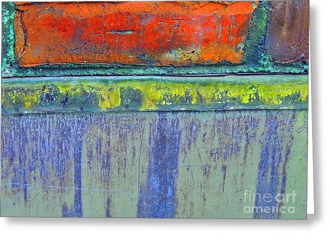 Layers Greeting Cards - Red Brick Greeting Card by Marcia Lee Jones