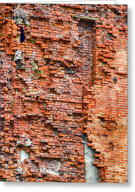 Maltings Greeting Cards - Red Brick Tetris   7D08356 Greeting Card by Guy Whiteley