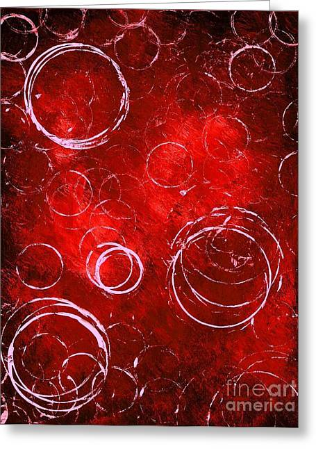 Surfing Art Greeting Cards - Red Bubbles Greeting Card by Mike Grubb