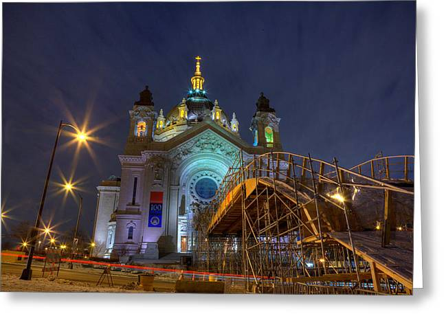 Tricks Greeting Cards - Red Bull Crashed Ice St Paul 2015 Greeting Card by Wayne Moran