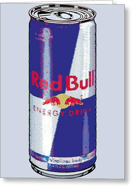 Silk Screen Greeting Cards - Red Bull Ode To Andy Warhol Greeting Card by Tony Rubino
