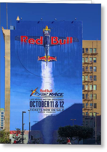 Downtown La Motors Greeting Cards - Red Bull On Olympic  Greeting Card by Viktor Savchenko