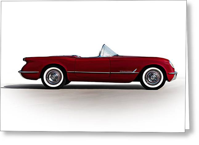 Roadsters Greeting Cards - Red C1 Convertible Greeting Card by Douglas Pittman