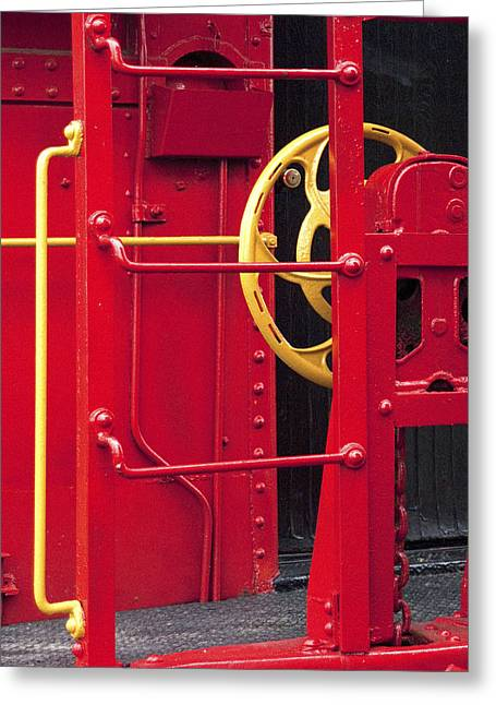 Red Caboose Greeting Card by Paul W Faust -  Impressions of Light