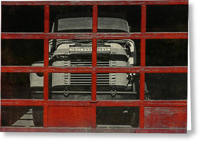 Red Cage Greeting Card by Jeff  Gettis