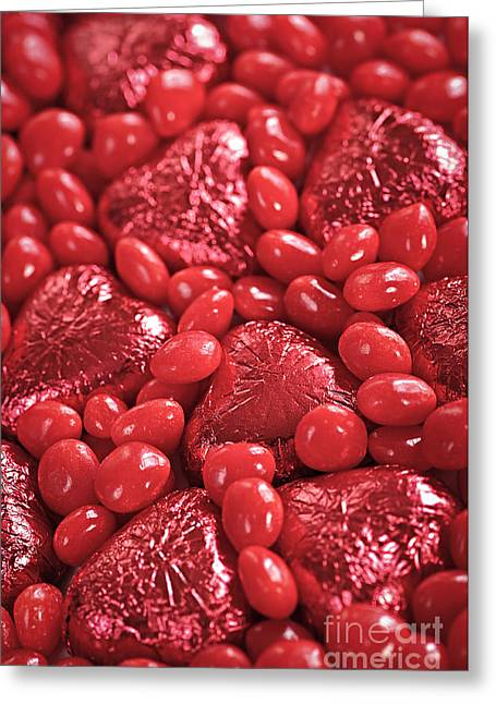 Affectionate Greeting Cards - Red candy Greeting Card by Elena Elisseeva