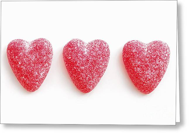Affectionate Greeting Cards - Red candy hearts Greeting Card by Elena Elisseeva