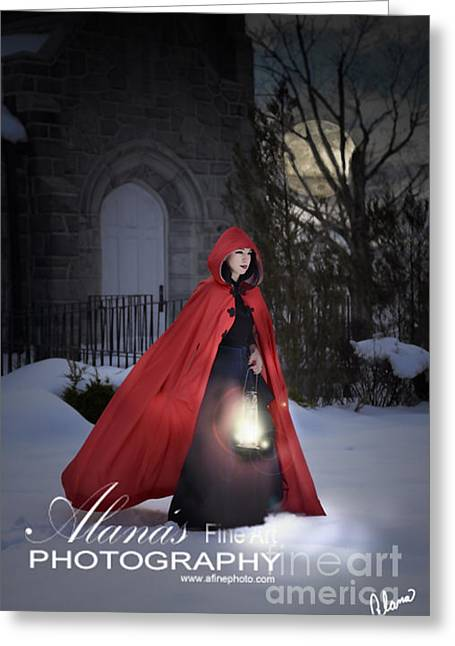 Storybook Greeting Cards - Red Cape Greeting Card by Alana Ranney