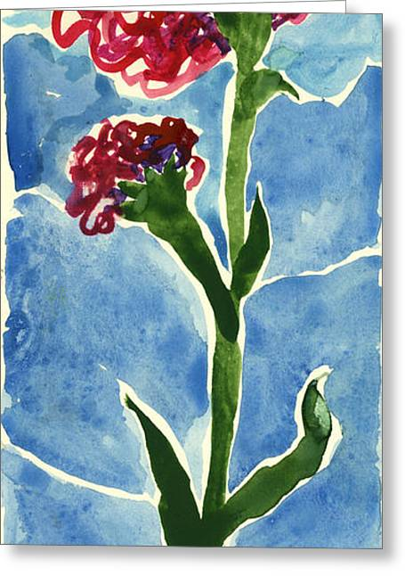 Ventura California Greeting Cards - Red Carnation Flower. 2011 Greeting Card by Cathy Peterson