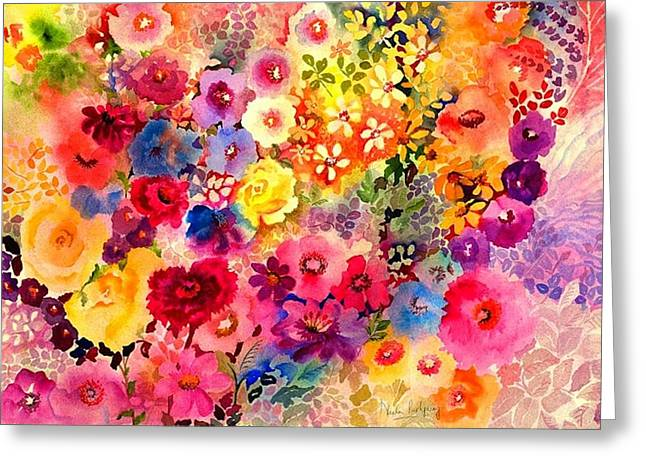 Still-life With Flowers Greeting Cards - Red Carnation Greeting Card by Neela Pushparaj