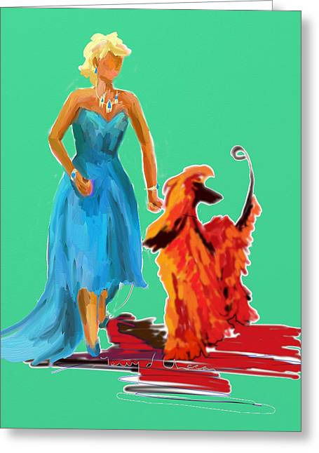 Terry Chacon Greeting Cards - Red Carpet Sally Greeting Card by Terry  Chacon