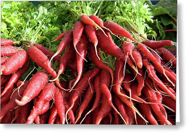 Red Carrots Greeting Card by Charlette Miller