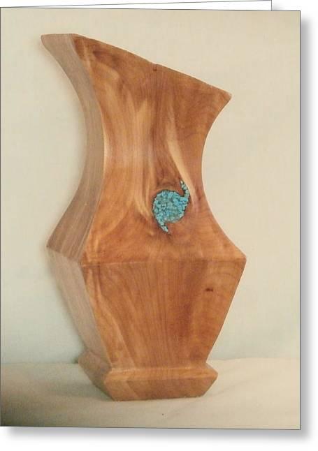 Cedar Sculptures Greeting Cards - Red Cedar Vase II Greeting Card by Russell Ellingsworth