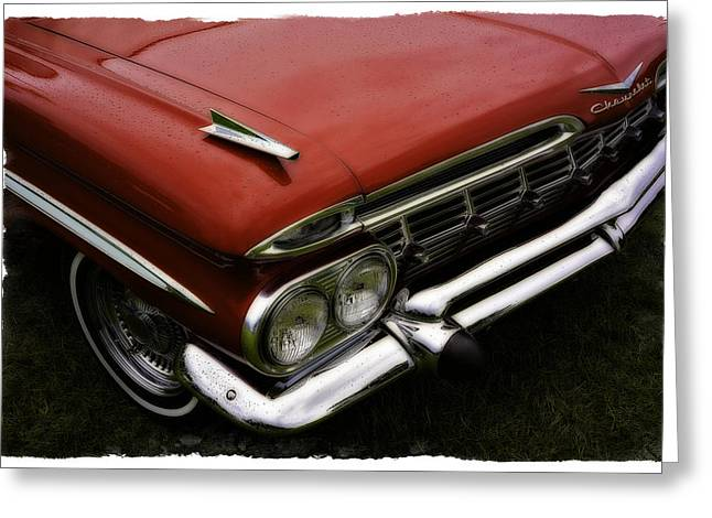 Red Chev Greeting Cards - Red Chev Greeting Card by Jerry Golab