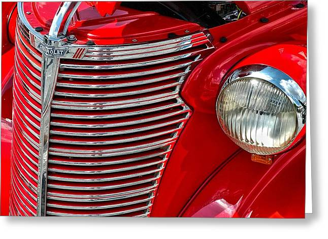 Red Chevrolet  Greeting Card by Allen Carroll