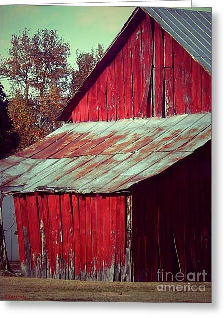 Tin Roof Greeting Cards - Red  Greeting Card by Christy Ricafrente
