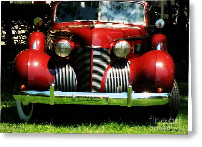 Red Classic Cadillac Greeting Card by Lainie Wrightson