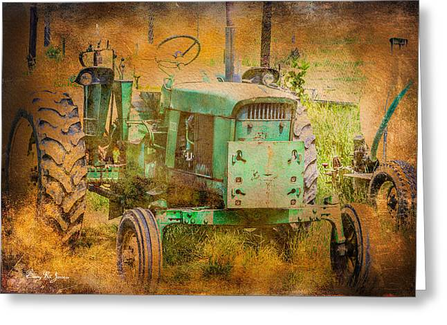 Barry Styles Greeting Cards - Old Tractor - Red Clay Farming Greeting Card by Barry Jones