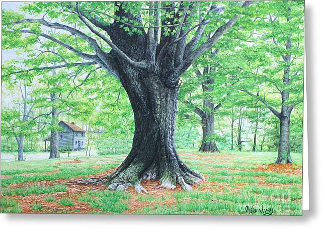 Photorealistic Paintings Greeting Cards - Red Clay Tennessee Greeting Card by Mike Ivey