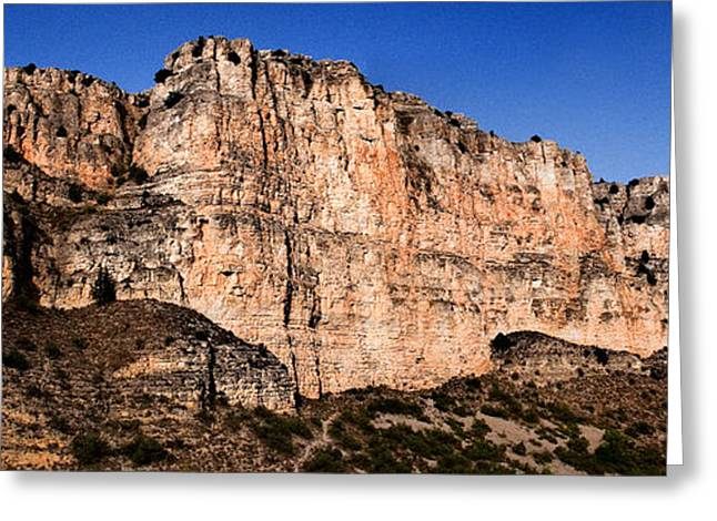 Teruel Greeting Cards - Red cliffs Blue Sky Greeting Card by Weston Westmoreland