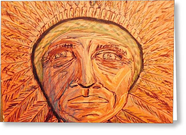 Chief Red Cloud Greeting Cards - Red Cloud Greeting Card by Edward Paul