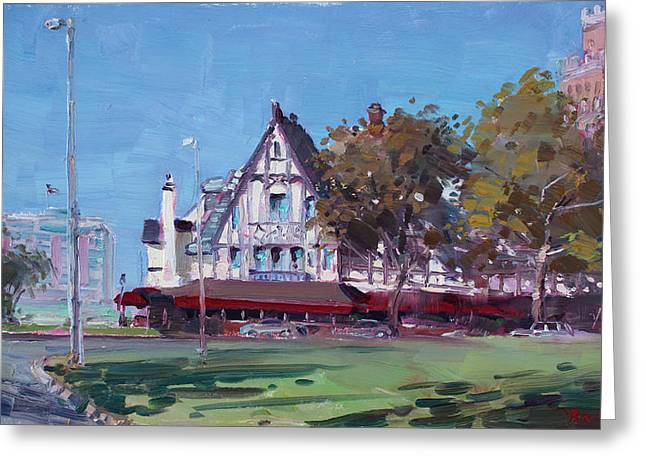 Coach Greeting Cards - Red Coach Inn Niagara Falls NY  Greeting Card by Ylli Haruni