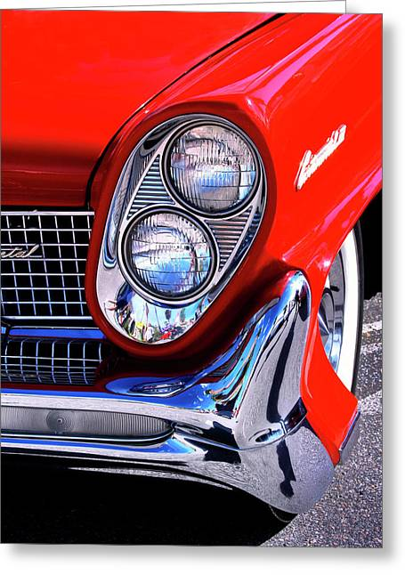 Featured Art Greeting Cards - RED CONTINENTAL Palm Springs Greeting Card by William Dey