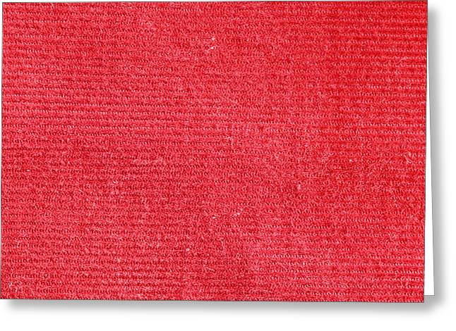 Corduroys Greeting Cards - Red corduroy Greeting Card by Tom Gowanlock