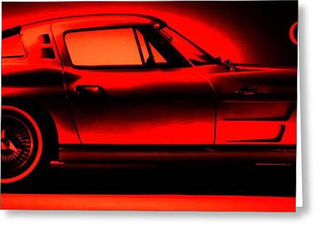 Smooth Ride Greeting Cards - Red Corvette Greeting Card by George Pedro
