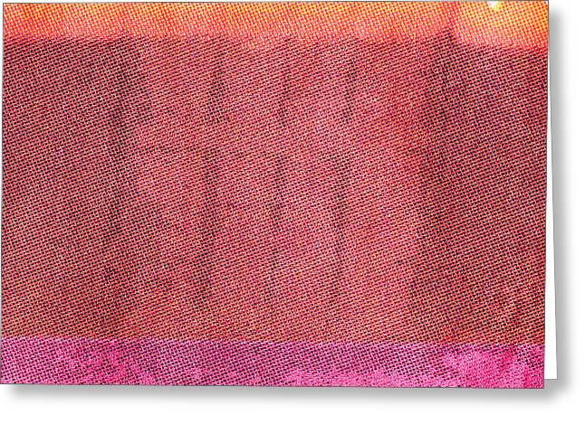 Abstract Style Greeting Cards - Red cotton  Greeting Card by Tom Gowanlock