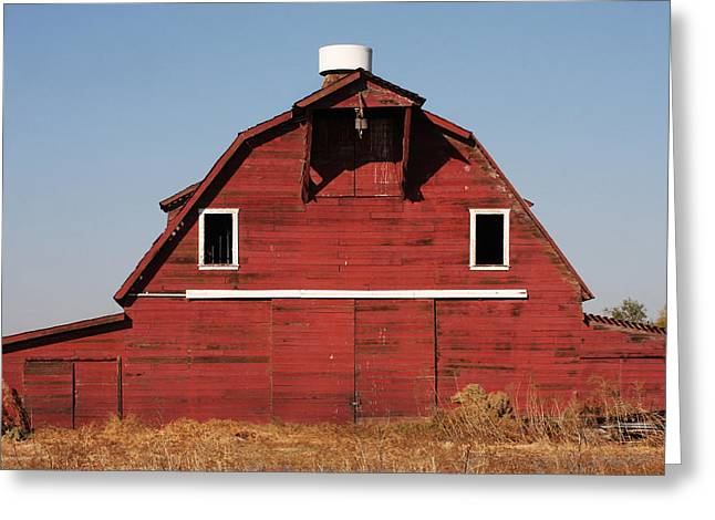 Outbuildings Greeting Cards - Red Country Barn Greeting Card by Art Block Collections