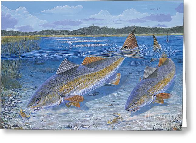 Bonefish Greeting Cards - Red Creek In0010 Greeting Card by Carey Chen