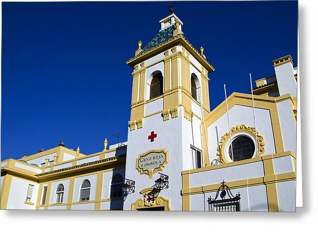 1518 Greeting Cards - Red Cross Building Greeting Card by John Rocha