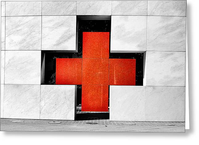 Arlington Greeting Cards - Red Cross Greeting Card by Greg Fortier