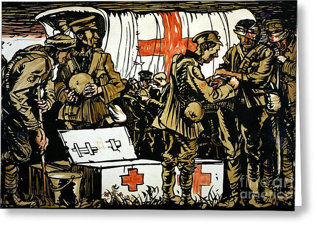 Medic Greeting Cards - Red Cross Poster, 1915 Greeting Card by Granger
