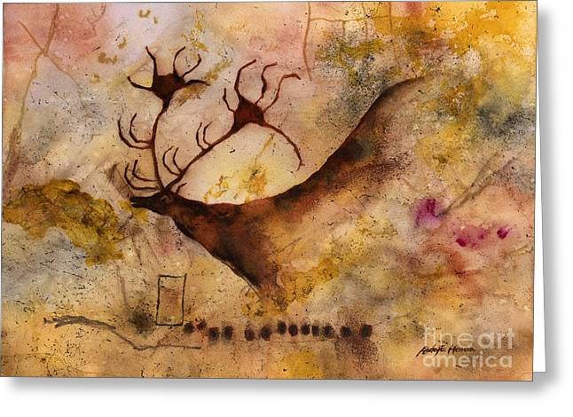 Red Deer Greeting Card by Hailey E Herrera