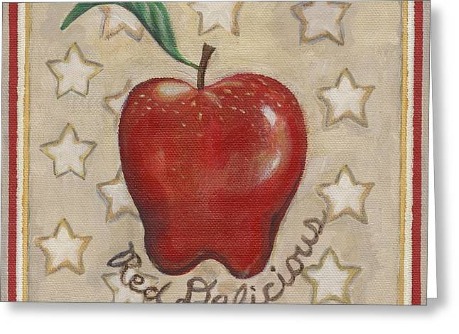 Red Delicious Two Greeting Card by Linda Mears