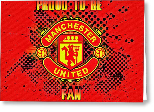 Red Devils Fan Poster Greeting Card by Florian Rodarte