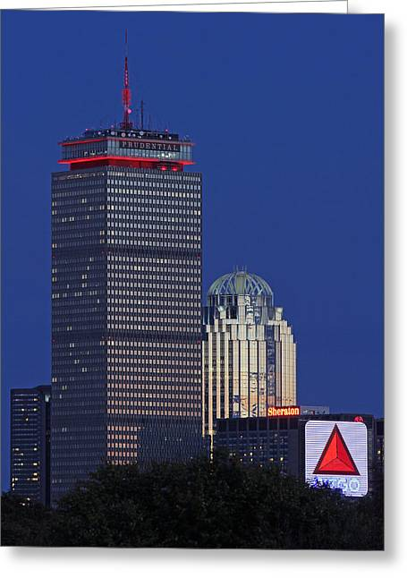 Prudential Center Greeting Cards - Red Dominance Greeting Card by Juergen Roth